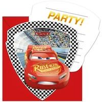Uitnodigingen Cars 3: 6 stuks