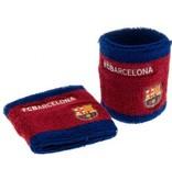 Barcelona FC Polsbanden barcelona rood/blauw 2 stuks