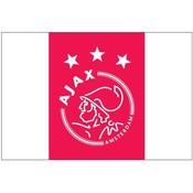 Vlag ajax reus 150x225 cm rood/wit logo