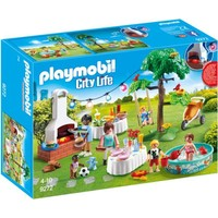 Familiefeest met barbecue Playmobil