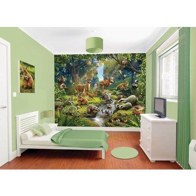 Walltastic Behang dieren in het bos Walltastic 245x305 cm