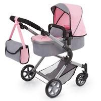 Poppenwagen Bayer Neo Star grijs/roze