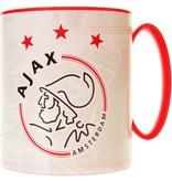 AJAX Amsterdam Mok plastic ajax wit met rood logo