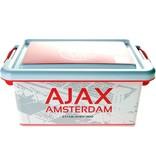 AJAX Amsterdam Opbergbox plastic ajax wit/rood logo 3.7 liter