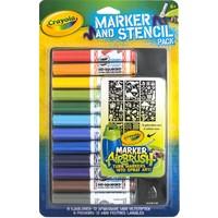 Viltstiften en sjablonen Crayola blauw