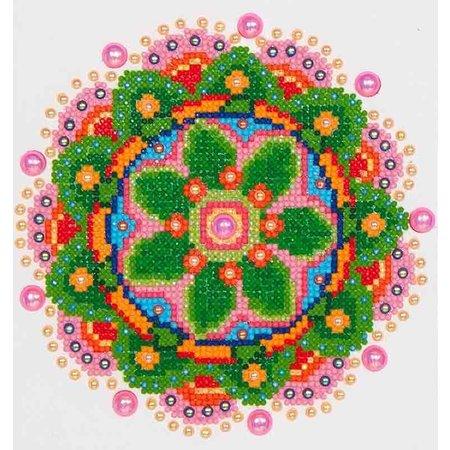 Diamond Dotz Flower Mandala Diamond Dotz: 20x25 cm