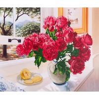 Diamond Dotz Roses by the Window Diamond Dotz: 57x49 cm