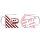 PSV Eindhoven Mok PSV wit/rood blow up