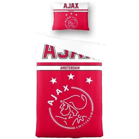 AJAX Amsterdam Dekbedovertrek ajax rood/wit 140x200/60x70 cm