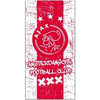 Handdoek ajax rood/wit grunge