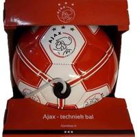 Ajax voetbal leer middel - rood/wit