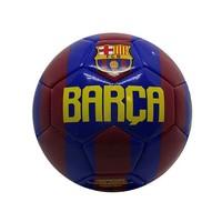 Bal barcelona leer middel rood/blauw,