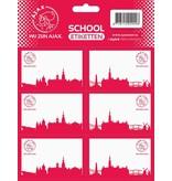 AJAX Amsterdam Etiketten ajax rood wij zijn 18 stuks