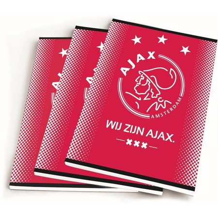 AJAX Amsterdam Schrift ajax rood wij zijn A5 gelijnd 3-pack