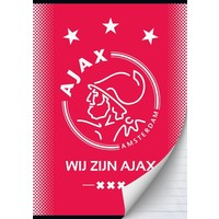 AJAX Amsterdam Schrift ajax rood wij zijn A4 gelijnd