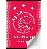 AJAX Amsterdam Schrift ajax rood wij zijn A4 geruit