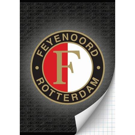 Feyenoord Rotterdam Schrift feyenoord grijs A4 geruit