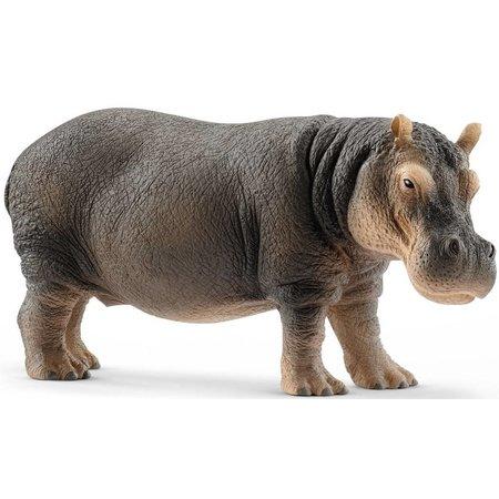 Schleich Schleich Nijlpaard 14814 - Speelfiguur - Wild Life - 12,8 x 4,7 x 6 cm