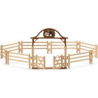 Schleich Omheining voor paarden met poort 42434 - Speelfigurenset - Horse Club - 19 x 6,8 x 11,5 cm