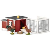 Schleich Kippenhok Haan en kip 42421 - Speelfigurenset - Farm World - 23 x 9 x 9 cm