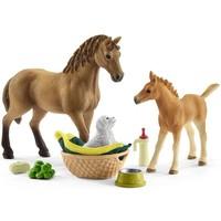 Schleich Babydieren verzorgingsset 42432 - Paard Speelfigurenset - Horse Club - 5,5 x 24,4 x 19 cm