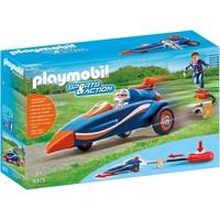 Piloot met autoraket Playmobil