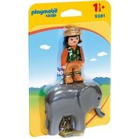 Dierenverzorgster met olifant Playmobil