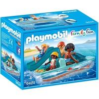 Waterfiets met glijbaan Playmobil