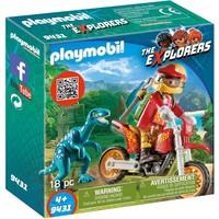 Motorcrosser met Raptor Playmobil