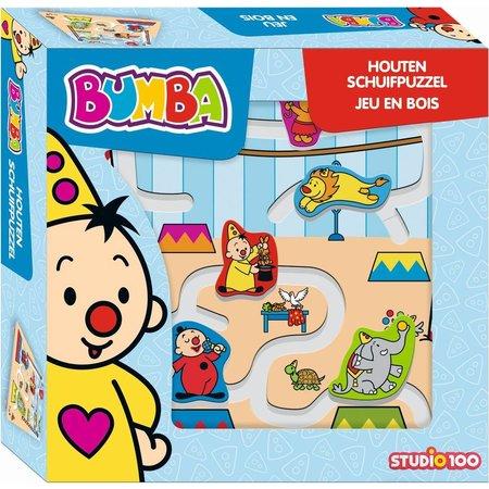 Bumba Bumba Schuifpuzzel hout - 5 stukjes