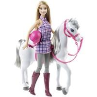 Paard en pop Barbie