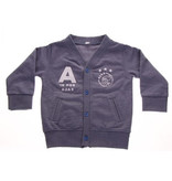 AJAX Amsterdam Baby vestje ajax blauw: A is for Ajax maat 62/68