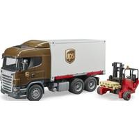 Scania R-Serie UPS vrachtwagen met heftruck Bruder