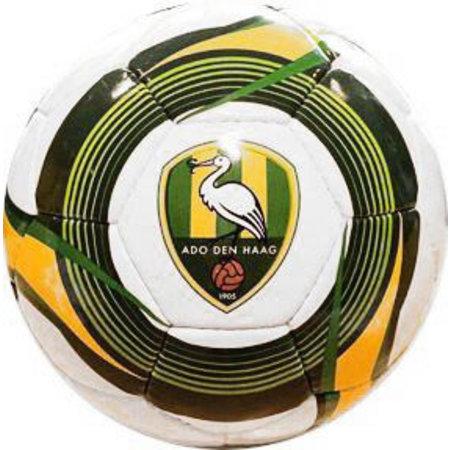 ADO Den Haag Bal ado leer groot wit/geel/groen cirkel, maat 5