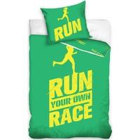 Dekbedovertrek Run groen