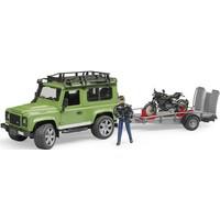 Land Rover Defender met accessoires Bruder