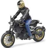 Bruder Ducati Scrambler Cafe Racer met bestuurder Bruder