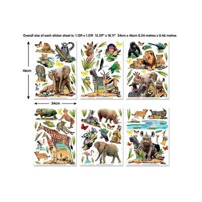 Walltastic Muursticker Jungle Safari Walltastic 82 stickers
