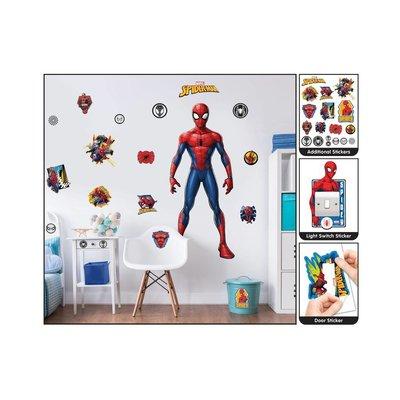 Muurstickers Kinderkamer Spiderman.Muursticker Spider Man Walltastic 122 Cm Sinqel
