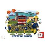 Brandweerman Sam Behang Brandweerman Sam 3d Walltastic 121x152x15 cm
