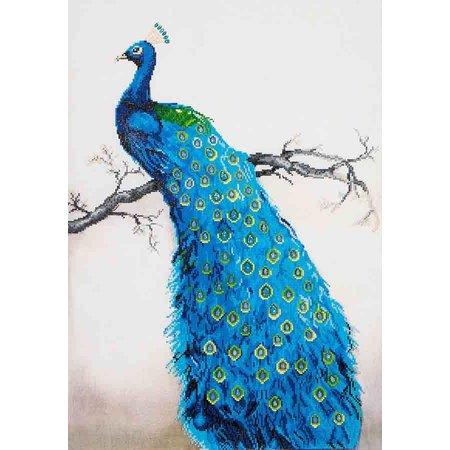 Diamond Dotz Blue Peacock Diamond Dotz: 60x84 cm