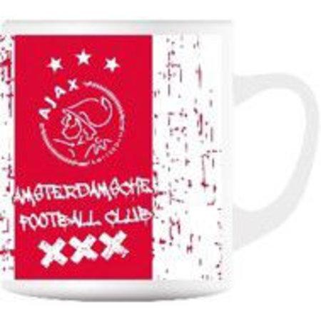 AJAX Amsterdam Mok ajax wit/rood grunge