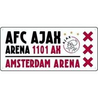AJAX Amsterdam Nummerplaat ajax wit/rood/wit Arena