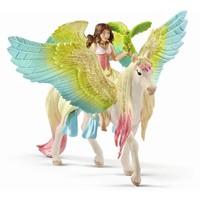 Schleich Elf Surah met glitter Pegasus 70566 - Speelfiguur - Bayala - 15 x 16 x 18 cm