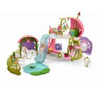 Schleich Glitterbloemenhuis met eenhoorns 42445 - Speelfigurenset - Bayala - 60 x 40 x 33 cm