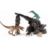 Schleich Dino set met grot 41461 - Speelfigurenset - Dinosaurs - 28 x 26 x 21 cm