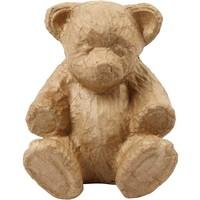 Papier mache Creotime teddybeer 18x15 cm