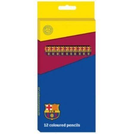Barcelona FC Kleurpotloden barcelona FCB 12 stuks