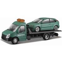 Vrachtauto Bburago Transporter + Ford schaal 1:43