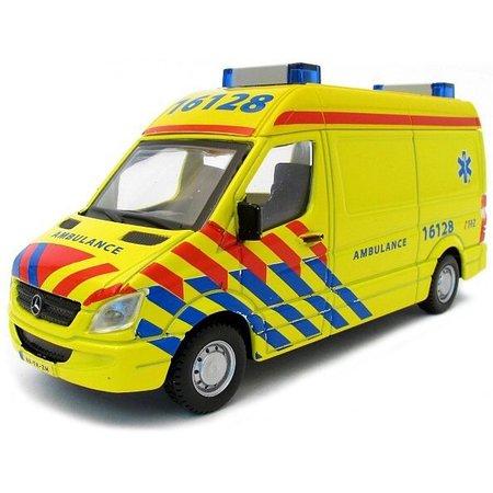Bburago Auto Bburago Mercedes Sprinter ambulance schaal 1:50